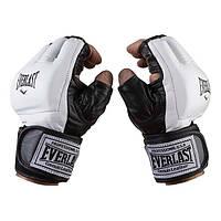 Перчатки Ever для единоборств, MMA, кожа, рр. L, XL, mod.4015