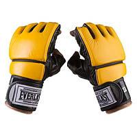Перчатки Ever для единоборств, MMA, кожа, рр. L, XL, mod.4019