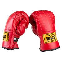 Снарядные перчатки BWS, DX, рр. M, L, XL, красный.