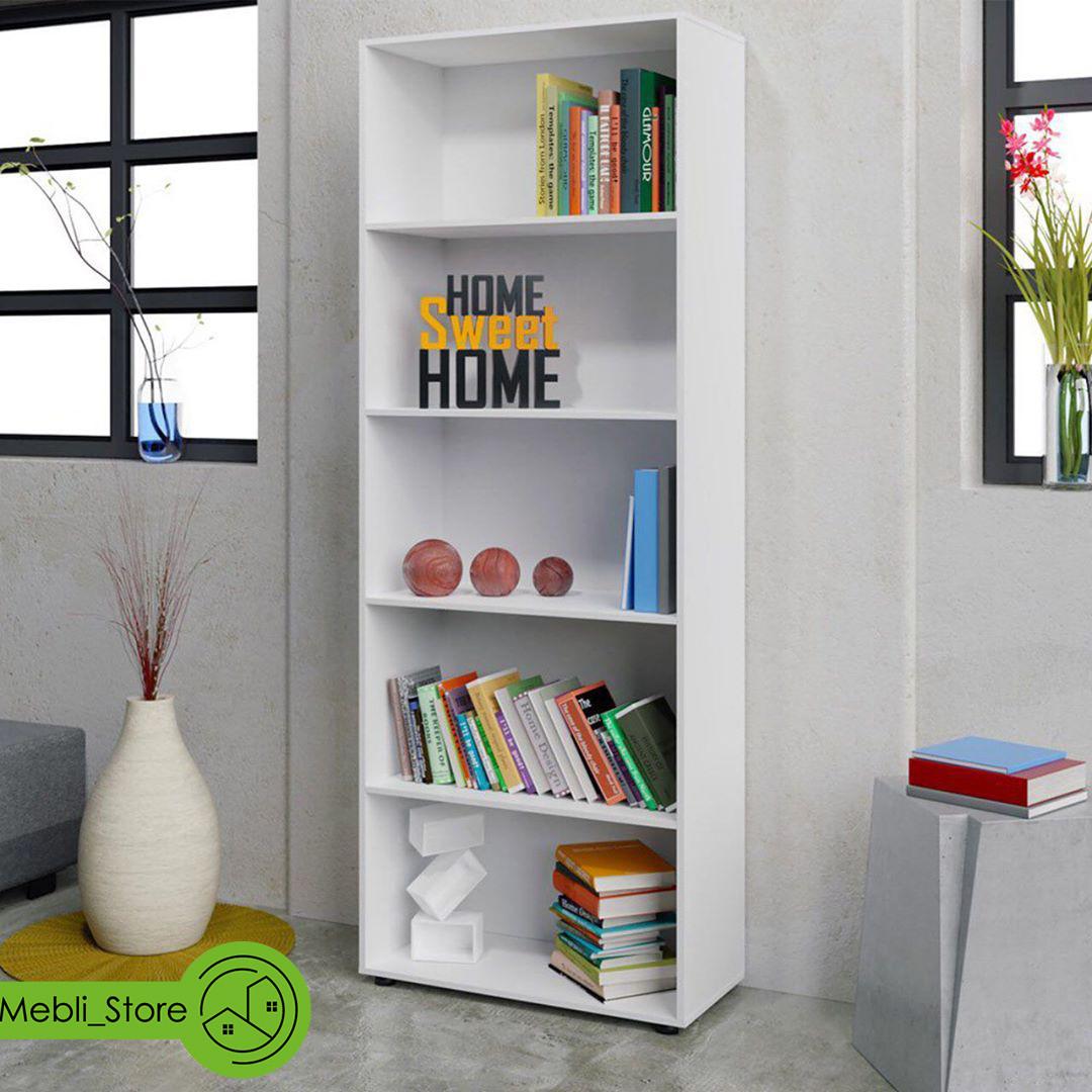 Стеллаж для дома, полка для книг из ДСП на 5 ячеек (4 ЦВЕТА) 600x1900x300 мм Возможны Ваши размеры
