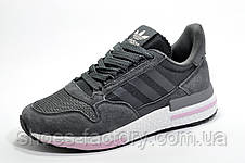 Кроссовки женские в стиле Adidas ZX 500 RM Boost, Dark Gray\White\Pink, фото 3