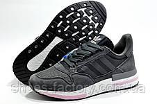 Кроссовки женские в стиле Adidas ZX 500 RM Boost, Dark Gray\White\Pink, фото 2