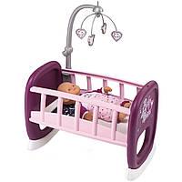 Кровать колыбель с мобилем для куклы пупса Baby Nurse Smoby 220343