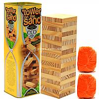 Настольная игра башня Vega (Вега) на кинетическом песке. Версия игры Дженга (Jenga) ST-01