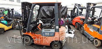 Вилочный газовый погрузчик Toyota, 1.5т,  погрузчик Б/У купить Киев