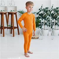 Джемпер из шерсти мериноса СОФИЯ (размер 86-92, оранжевый)