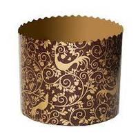 Бумажная форма для пасхальных куличей 70х130 мм, пергамент коричневый