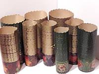 Бумажная форма для пасхальных куличей 70х110 мм, пергамент коричневый