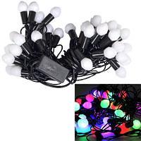 Гирлянда светодиодная новогодняя цветная Шишки 40 LED ламп 5.8м 2000-03249
