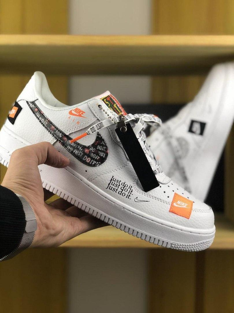 Женские кроссовки Nike Air Force Just Do It Pack White/Black
