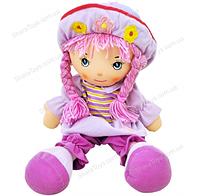 Кукла мягкая в шляпе музыкальная