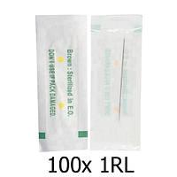 100x Голка 1RL 0.35 мм контурна для машинок перманентного макіяжу та татуажу # 10.05218