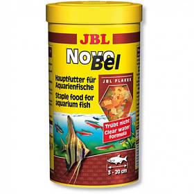 Основний корм у формі пластівців JBL NovoBel для акваріумних риб, 1 л