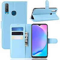 Чехол-книжка Litchie Wallet для Vivo Y17 / Y3 Blue