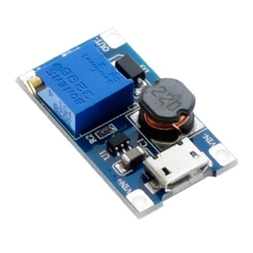 Повышающий преобразователь напряжения DC-DC MT3608 до 28В с MicroUSB вх 2000-02883