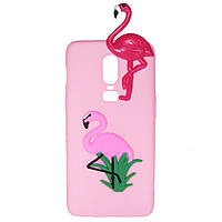 Чехол Cartoon 3D Case для OnePlus 6 Фламинго