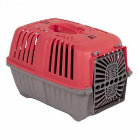 MPS Pratico 1 контейнер для транспортування тварин з пластикової дверцятами, червоний