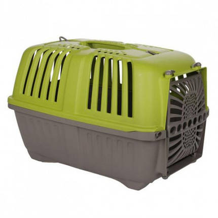 Переноска MPS Pratico 1 для кішок і собак дрібних порід, зелена, 48×31.5×33 см, фото 2