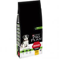 Сухой корм Purina Pro Plan Dog Medium Puppy OptiStart для щенков средних пород, с курицей, 3 кг