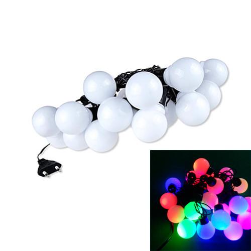 Гирлянда светодиодная новогодняя цветная Большие Шарики 20 LED ламп 5м 2001-02313