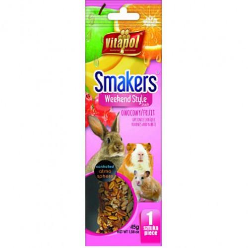 Колба Vitapol Smakers Box для грызунов со вкусом фруктов, 45 г, 1 шт