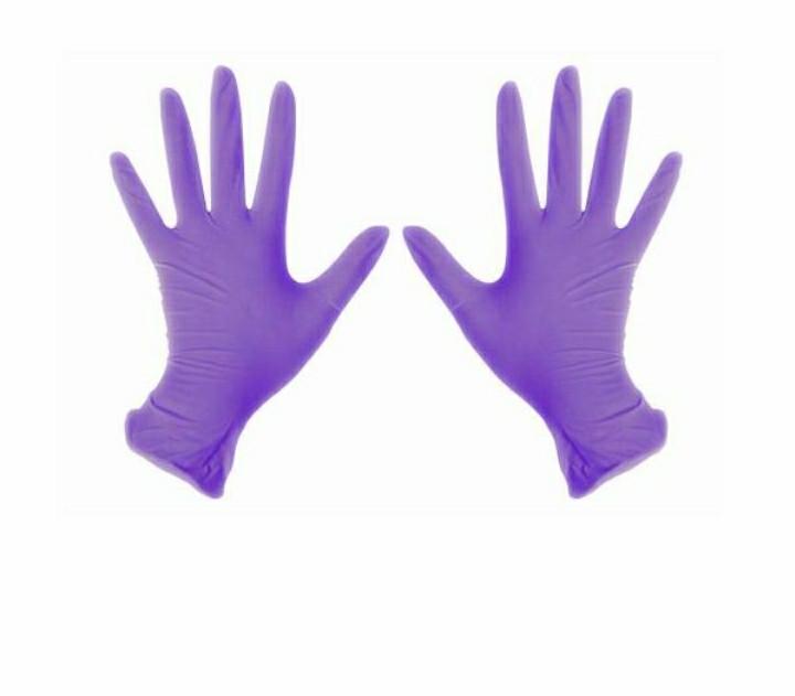 Перчатки нитриловые 100 ШТ неопудренные фиолетовые  м