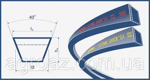 Ремень В(Б)-2430 (B 2430) Harvest Belts (Польша) D41934800 Massey Ferguson