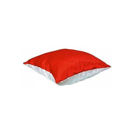 Подушка атлас с цветной сторонй 35*35