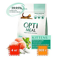 Сухой корм для котят Optimeal (Оптимил) | КУРИЦА | 4 кг | 300 г