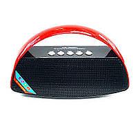 Портативная колонка с Bluetooth Wster WS-1528B с радио, блютуз, Синяя + Фитнес браслет Мi4 в подарок