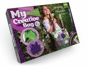 """Набор для творчества вышивка бисером и лентами """"My Creative Bag"""" СИРЕНЬ, фото 2"""