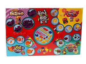 """Набор для творчества 4в1 """"BIG CREATIVE BOX"""" / Пластилин/ Тесто для лепки /Кинетический песок / Масса для лепки"""