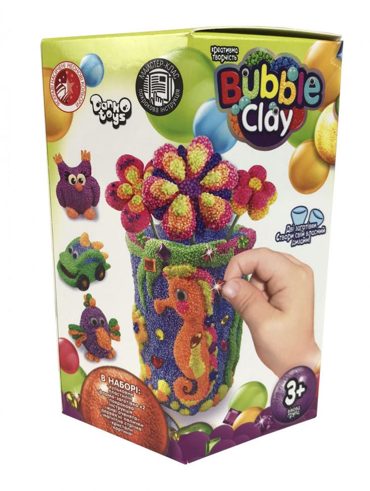 "Набор для творчества ""Bubble Clay Ваза"" / Шариковый пластилин / Набор для лепки"