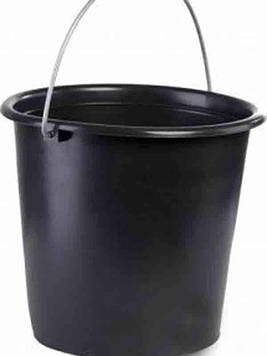 Вiдро 10л чорне Лемiра (без кришки)