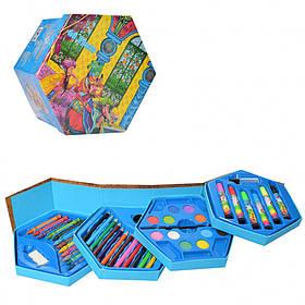 Набір для творчості (Східна казка)) 54 предмета / Набір для творчості/ Фарби / Олівці кольорові