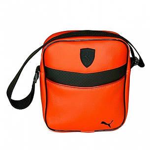 Барсетка Puma Ferrari красная (Пума Ферари) сумка через плече, фото 2
