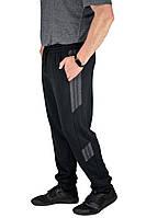 Мужские спортивные брюки N-Sport черные с темно-серым, фото 1