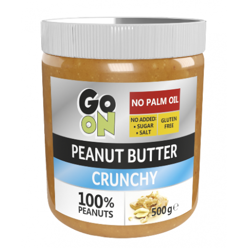 GO ON NUTRITION PEANUT BUTTER CRUNCHY 500 ГР (СТЕКЛО)