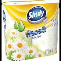 Sindy туалетний папір 3-хслойная Camomile 4шт (130 відривів)