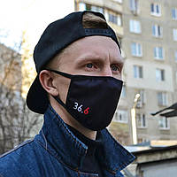 Многоразовая маска с принтом  36.6  женская,мужская
