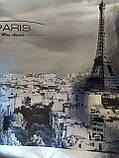 """Эко сумки BOX XXL. ламинация. СЕРЕБРО. """"Paris"""", фото 2"""