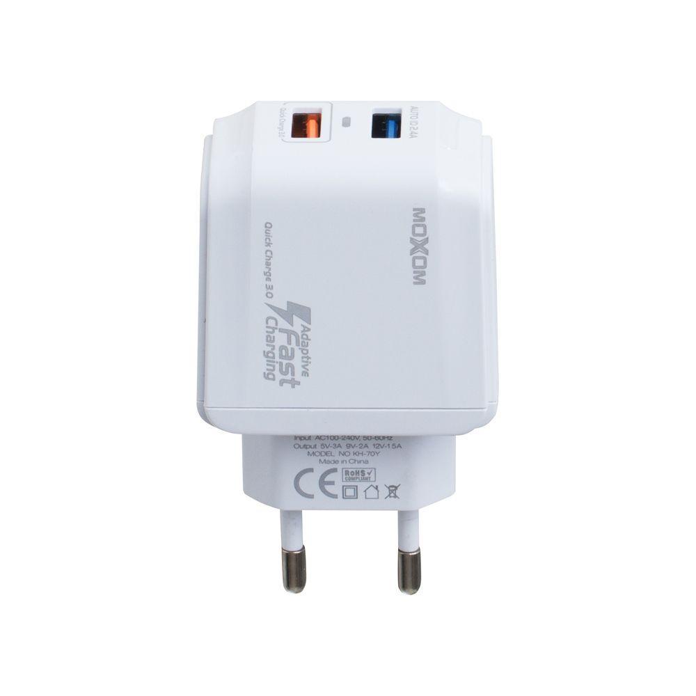 Сетевое Зарядное Устройство Moxom KH-70Y Micro QC 3.0 2USB