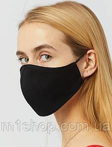 Многоразовая хлопковая коттоновая черная маска для лица (CRDM102)
