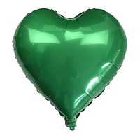 Шар сердце фольгированная, ЗЕЛЕНОЕ - 25 см (10 дюймов)