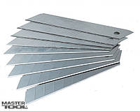 Лезвие для ножа строительного/канцелярского 18 мм, толщина 0.4 мм, 7 сегментов 10 шт.