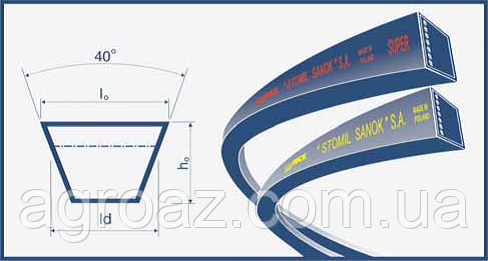 Ремень С(В)-4820 (C 4820) Harvest Belts (Польша) H128010 John Deere
