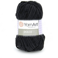 Плюшевая пряжа (100% микрополиэстер, 100г/120м) YarnArt Dolce 742(черный)
