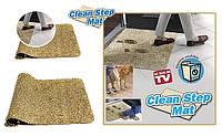 Придверный впитывающий коврик для ног с абсорбирующими волокнами Clean Step Mat , 70 х 45 см
