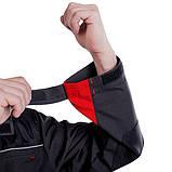 Куртка SteelUZ (чорна з червоними елементами), фото 2