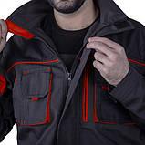 Куртка SteelUZ (чорна з червоними елементами), фото 3